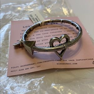 Alex & Ani Cupid's arrow love bracelet